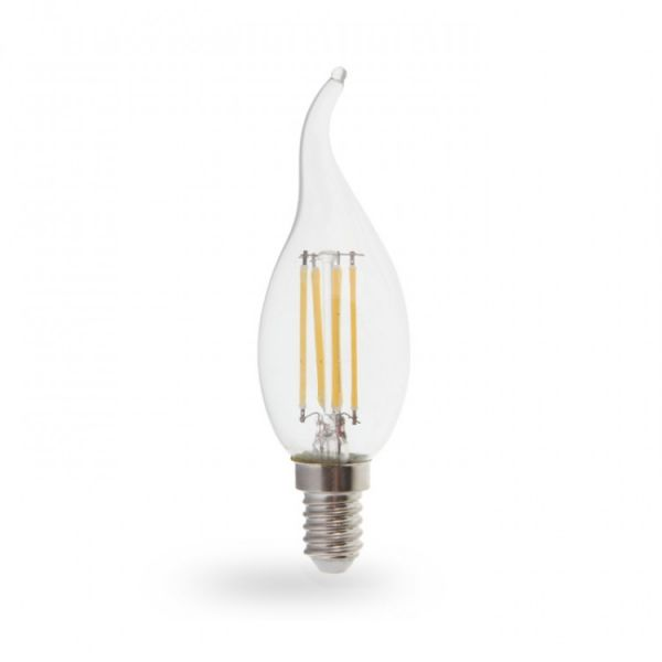 Лампа светодиодная свеча на ветру 7W E14 2700K filament Feron LB-160 Cf37