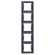 Рамка 5-місна, вертикальна, графіт Sedna Schneider Electric SDN5801570