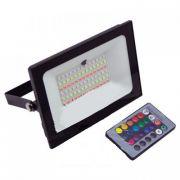 Світлодіодний прожектор чорний 50Вт RGB IP65 + пульт Lemanso LMP76-50
