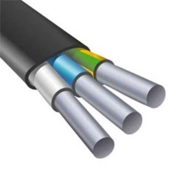 Силовой кабель алюминиевый АВВГ-П 3х6