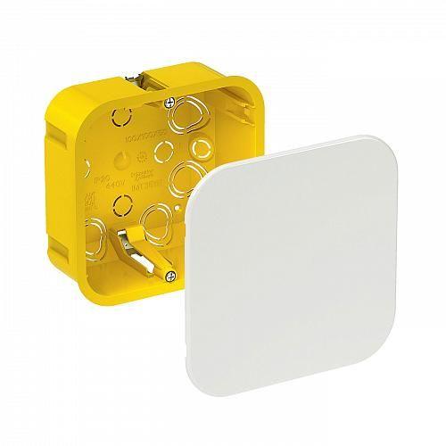 Розподільча глибока коробка 100х100х50, 120/53/120 жовта Schneider Electric IMT35161