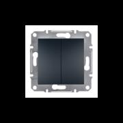 Выключатель 1-полюсный 2-клавишный Антрацит Asfora Plus Schneider Electric EPH0300171