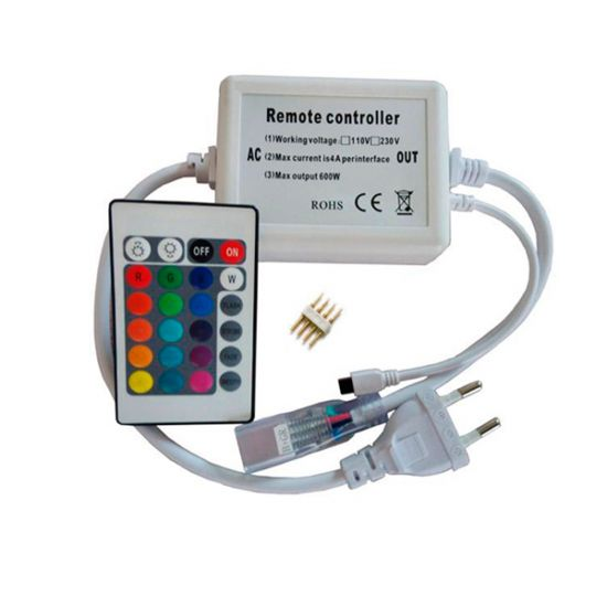 Контролер RGB 220В 600W-IR-24 кнопки