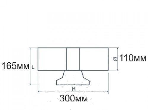 Подсветка для стены серая LED Lemanso 2хE27 - G45 / A60 IP65 LM1110