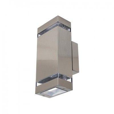 Светильник фасадный 2xGU10 матовый хром Horoz Gardenya-2