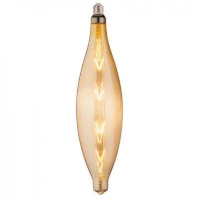 Лампа свiтлодiодна 8W E27 2200K filament Horoz ELLIPTIC-XL Amber