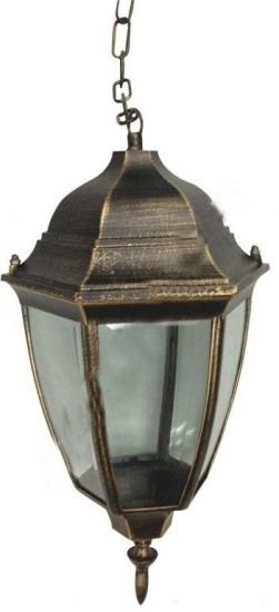 Светильник уличный античное золото, на цепочке 60W IP44 Lemanso PL5105