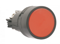 "Кнопка SВ-7 ""Стоп"" червона 1НЗ d22мм 240В ІЕК BBT40-SB7-K04"