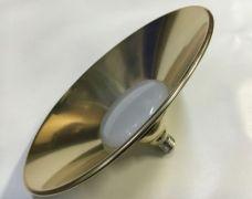 Світлодіодна лампа E27 10W 6500K LED IP65 Купол Золото LM708