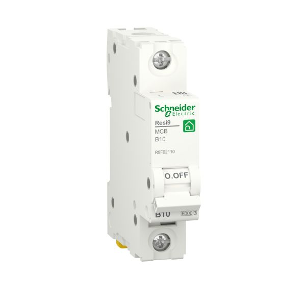 Автоматический выключатель 1P 10A B 6kA Schneider Electric Resi9 R9F02110