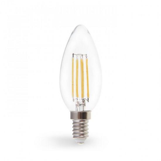 Лампа светодиодная диммер свеча 4W E14 2700K filament Feron LB-68 C37