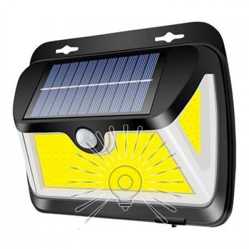 Підсвітка для стіни 5W 6500K IP65 з датчиком руху + сонячна панель + акумулятор Lemanso LM33006