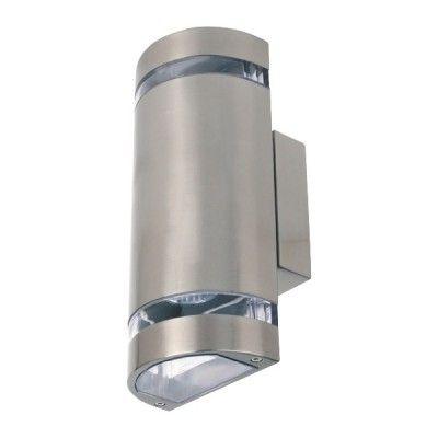 Светильник фасадный 2xGU10 матовый хром Horoz Gardenya-4