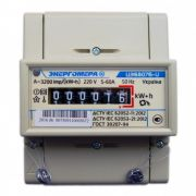 Счетчик электроэнергии однофазный на DIN-рейку электрон. Энергомера ЦЭ 6807Б-U K 1,0 220В 5-60А М6Р5