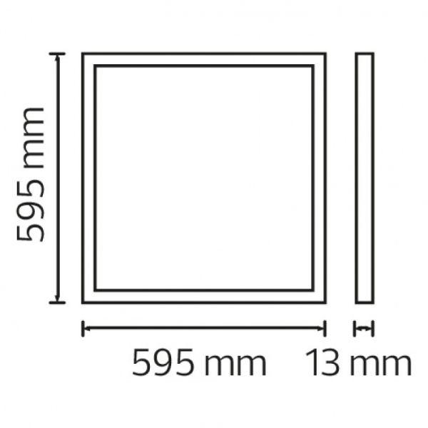 Светодиодный светильник рамка врезной Horoz Electric CAPELLA-48 48W 6400К