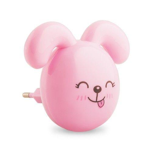 Нічник світлодіодний рожевий з вимикачем Feron FN1167 зайчик вушка донизу (2)