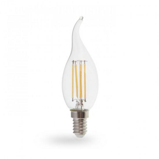 Лампа светодиодная свеча на ветру 6W E14 4000K filament Feron LB-159 Cf37