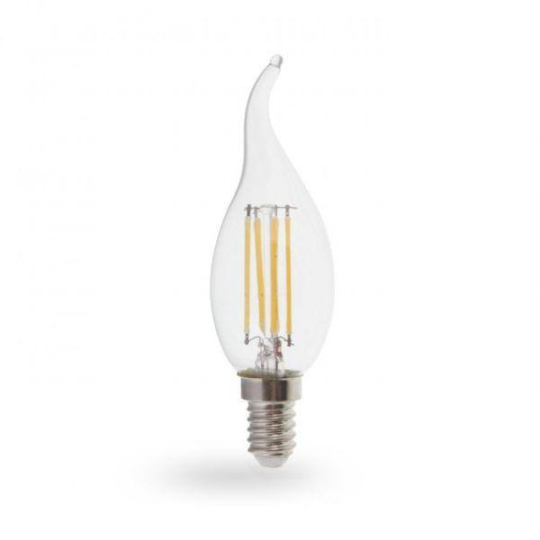 Лампа светодиодная свеча на ветру 4W E14 2700K filament Feron LB-59 Cf37