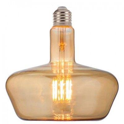 Лампа светодиодная 8W E27 2200K filament Horoz GINZA-XL Amber