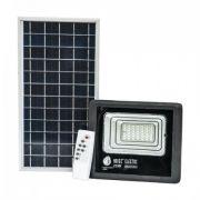 Прожектор світлодіодний з сонячною панеллю 25W 6400K TIGER