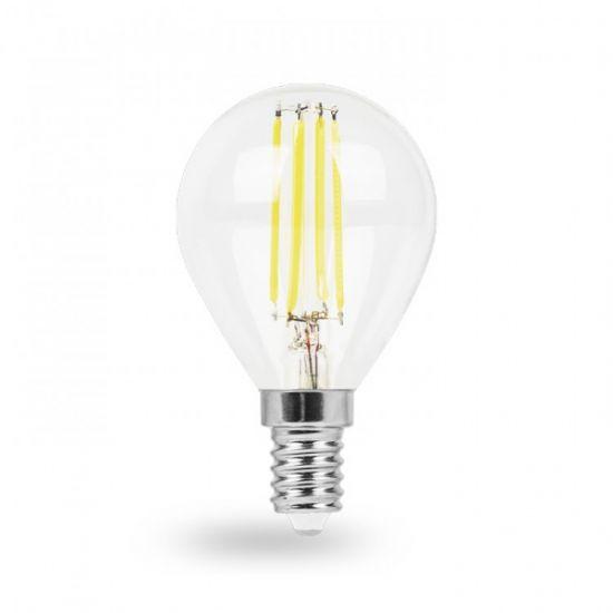 Лампа светодиодная 6W E14 4000K filament Feron LB-161 P45