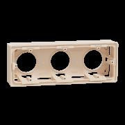 Коробка для открытой установки 3-постовая Schneider Electric Unica New бежевый