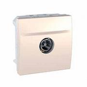 MGU3.463.25 Розетка TV проходная штыревой разъем 2м слоновая кость Unica Schneider Electric