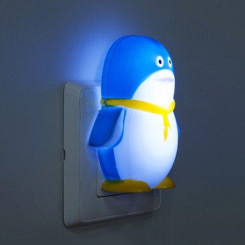 Ночник светодиодный синий с выключателем Feron FN1001 пингвин