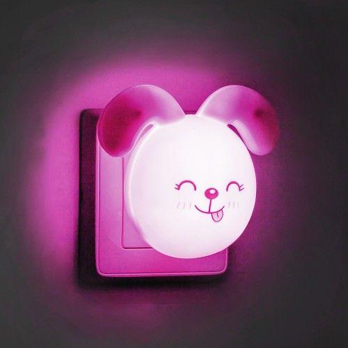 Ночник светодиодный розовый с выключателем Feron FN1167 зайчик ушки вниз