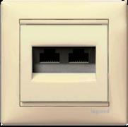 Механізм розетки інформаційної 2хRJ45 UTP кат. 5е слонова кiстка Valena Legrand 774131