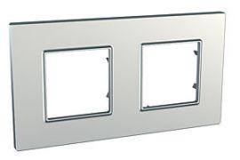 MGU6.704.55 Рамка 2-местная серебро Unica Quadro Schneider Electric
