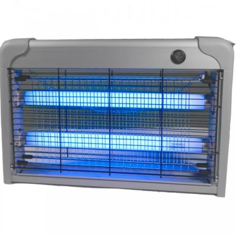 Светильник от комаров для уничтожения насекомых серебряный T8 2x10W Lemanso LMN106
