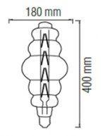 Лампа свеоидодная 8W E27 2400K filament Horoz ORIGAMI-XL Titanium